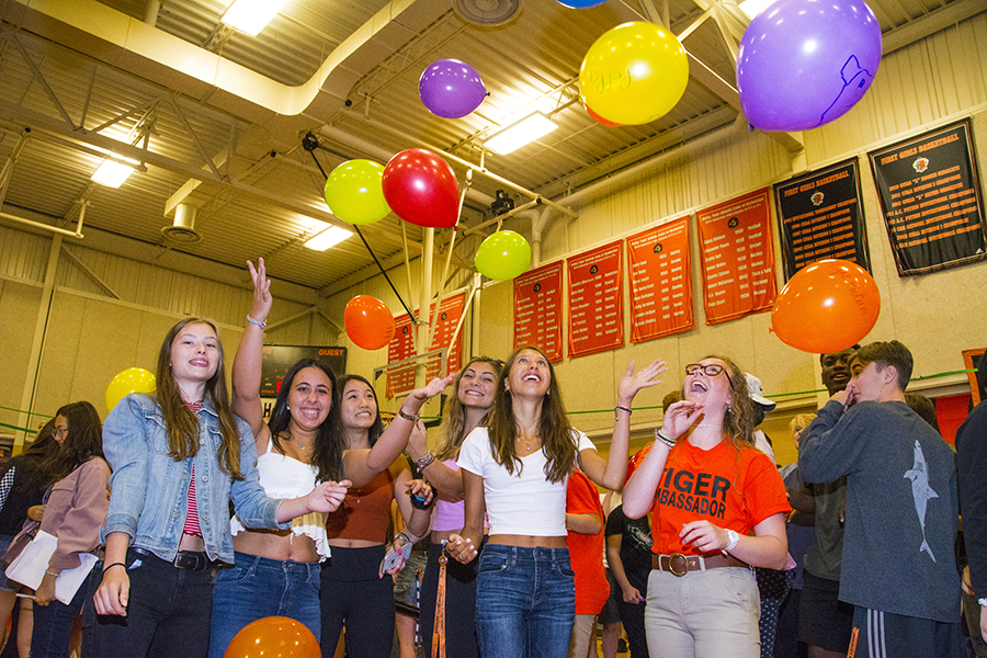 Balloons at Pep Rally