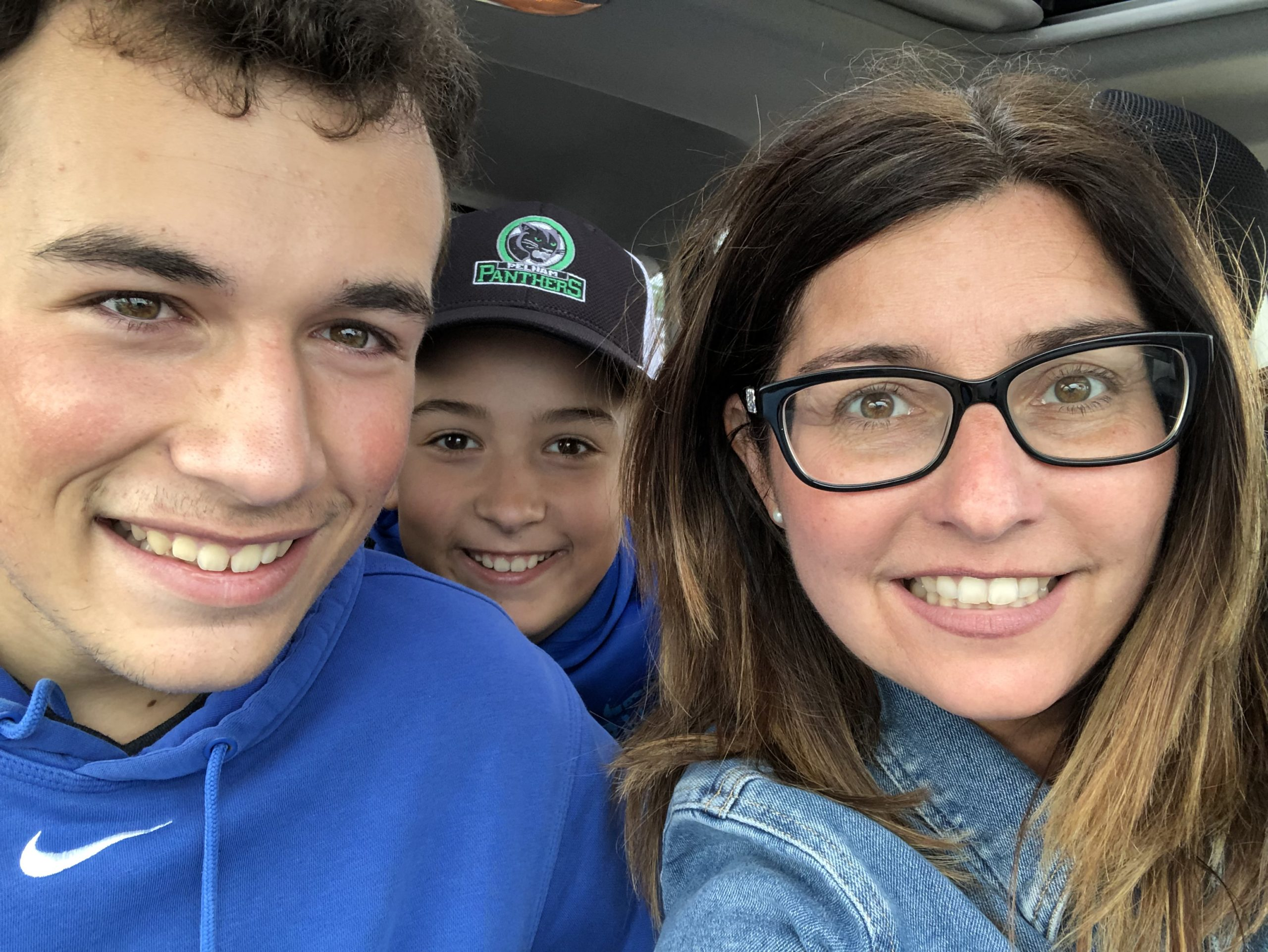 Shelley with her sons—16-year-old Evan and Nathan, who's soon-to-be 12.
